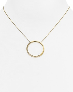 Open Circle Pavé Pendant Necklace by Michael Kors  in The Flash