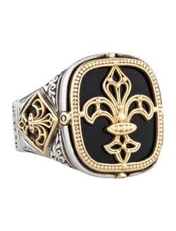 Fleur De Lis Signet Ring by Konstantino in Legend