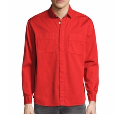 Over-Dyed Organic Cotton Sport Shirt by Nudie in Quantico