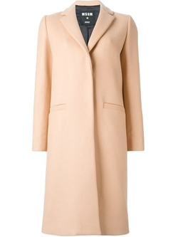 Single Breasted Coat by MSGM in The Flash