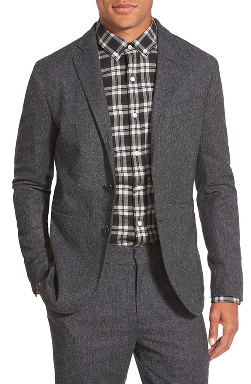 'Stealth' Slim Fit Two-Button Sport Coat by Bespoken in Youth