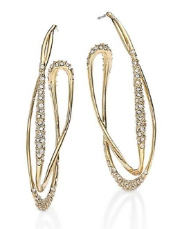 Jagged Crystal Liquid Orbit Hoop Earrings by Alexis Bittar in Southpaw