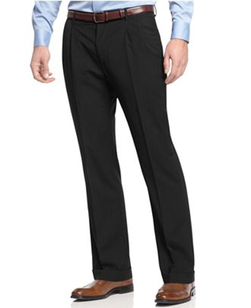 Check Pleated Dress Pants by Nautica in Fight Club