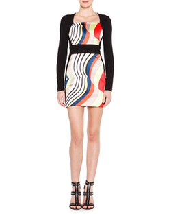 Ong-Sleeve Fitted Colorblock Dress by Emilio Pucci in Keeping Up With The Kardashians