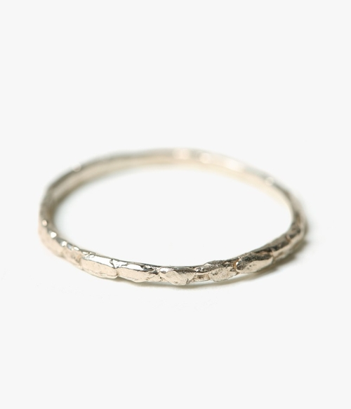 Thin Faux Nugget Band Ring by Blair Lauren Brown in Scout's Guide to the Zombie Apocalypse