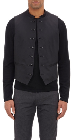Seven-Button Admiral Waistcoat by John Varvatos Star U.S.A. in The Second Best Exotic Marigold Hotel