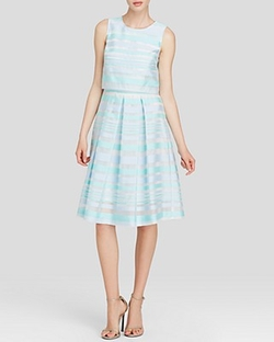Karolina Striped Popover Dress by Cynthia Steffe in Scream Queens
