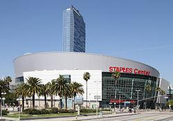 Los Angeles, California by Staples Center in Let's Be Cops