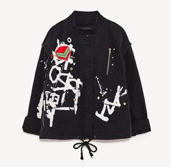 Printed Parka Jacket by Zara in Shadowhunters