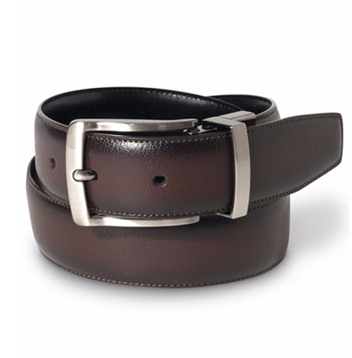 Leather Burnished Edge Belt by Perry Ellis in Marvel's Luke Cage - Season 1 Episode 5
