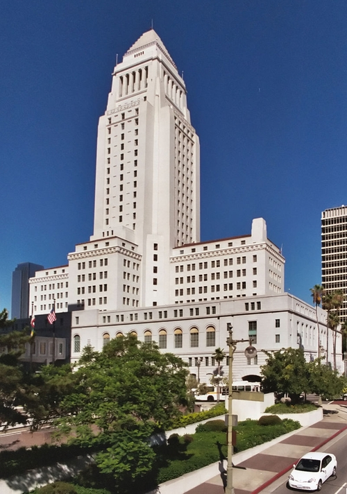 Los Angeles City Hall Los Angeles, California in The Nice Guys