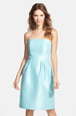 Strapless Dupioni Dress by Alfred Sung in Sisters