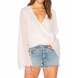 Sanja Wrap Top by The Jetset Diaries in Power