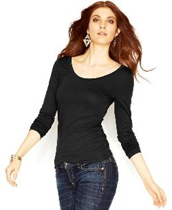 Long-Sleeve Lace-Up Top by Guess in Wish I Was Here