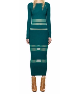 Sheer Striped Intarsia Dress by Self-Portrait in Keeping Up With The Kardashians