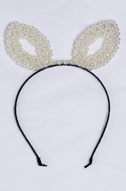 Pearl Cat Ears Headband by Parallel Kulture in Scream Queens