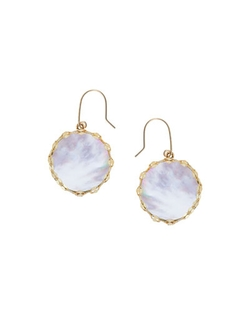 Blanca Small Mother-Of-Pearl Earrings by Lana in Victor Frankenstein