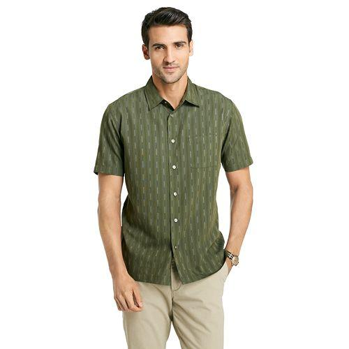Vertical Stripe Casual Button-Down Shirt by Van Heusen in Neighbors