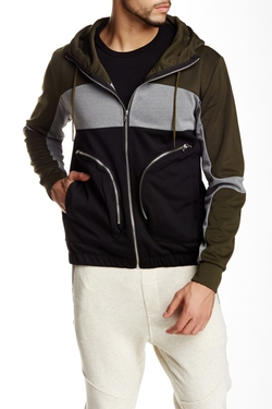 Neoprene Colorblock Hoodie  by Shades Of Grey  in New Girl