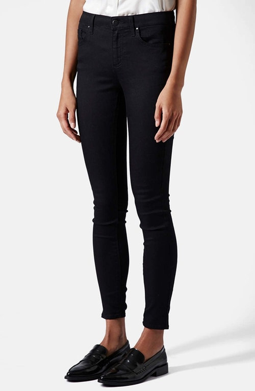 Moto 'Leigh' Mid Rise Skinny Jeans by Topshop in Jessica Jones