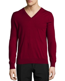 Dockley Wool V-Neck Sweater by Burberry Brit in How To Get Away With Murder