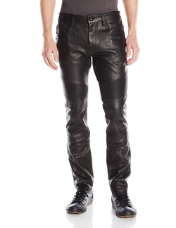 Calf Leather Moto Pants by Rogue in Point Break