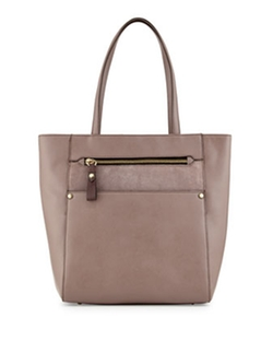 Daphne Saffiano Leather Tote Bag by Oryany in Ballers
