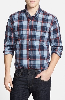Regular Fit Madras Plaid Sport Shirt by Vintage 1946 in The D Train