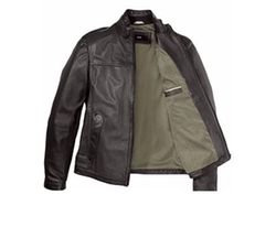 Nilas Leather Jacket by Boss Hugo Boss in Arrow