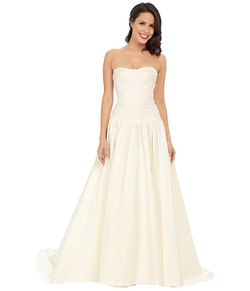 Laurel Silk Faille Bridal Gown by Nicole Miller  in New Girl