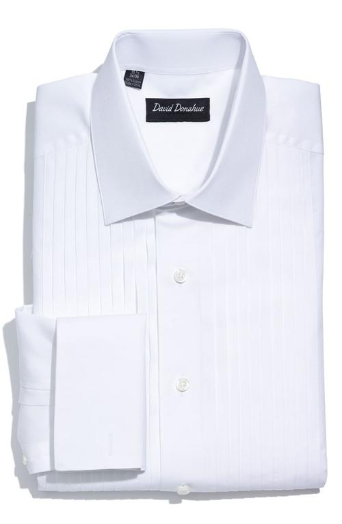 Regular Fit Tuxedo Shirt by David Donahue in New Year's Eve