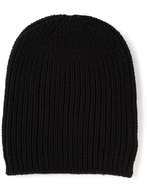 Ribbed Knit Beanie Hat by P.A.R.O.S.H. in Pretty Little Liars - Season 6 Episode 5