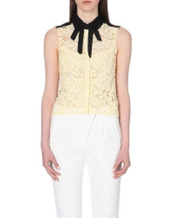 Clem Sleeveless Lace Shirt by Sandro in Pretty Little Liars