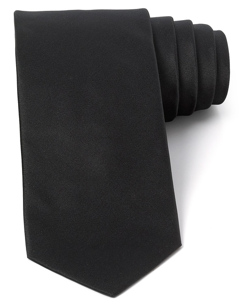 Formal Satin Classic Tie by Yves Saint Laurent in Legend