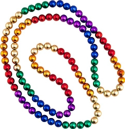 Rainbow Colored Mardi Gras Beads Necklace by Beads by the Dozen, Inc. in The Hangover