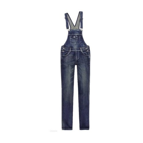 Women's Overalls Denim Suspender Jumpsuit by Finejo in The DUFF
