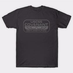 USCSS Covenant Crewneck T-Shirt by Tee Public in Alien: Covenant