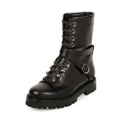 Rockstud Leather Combat Boots by Valentino in The Magicians