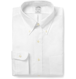 Button-Down Cotton Oxford Shirt by Brooks Brothers in Self/Less