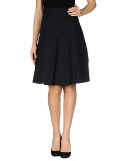 Knee Length Skirt by Jil Sander Navy in New Girl