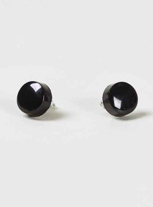 Plastic Black Earrings by Topman in Boyhood