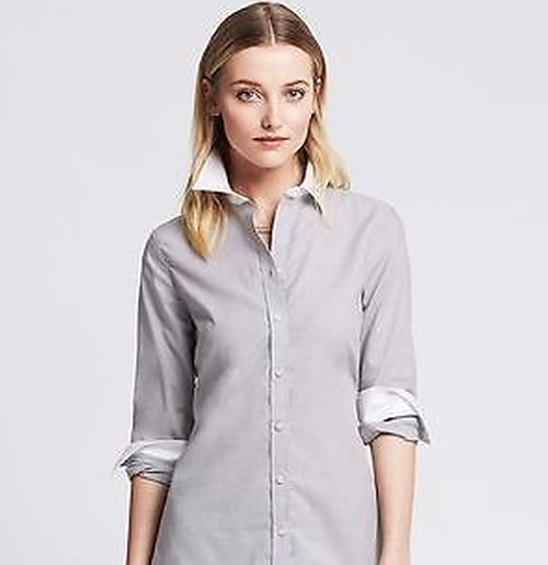 Collared Button Up Shirt by Banana Republic in The Boss