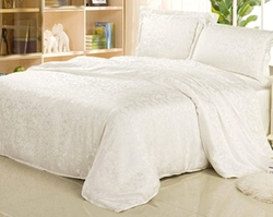 Jacquard Weave Series Love at First Sight 100% Silk Duvet Covers & Sets by Sweet-Natured Home in Fifty Shades of Grey