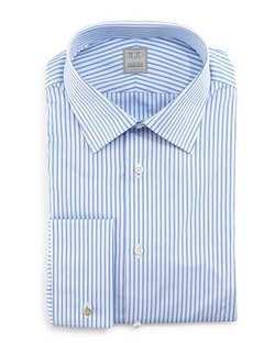 Striped French-Cuff Dress Shirt by Ike Behar in The Mindy Project