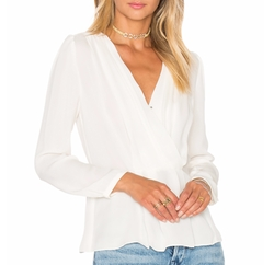 Wrap Top by Rebecca Taylor in New Girl