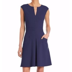 Sleeveless Wool Pocket Dress by Carolina Herrera in New Girl