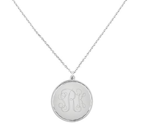 Stainless Steel Round Disc Pendant Necklace by QVC in Avengers: Age of Ultron