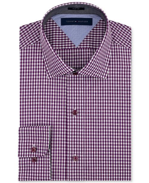 Slim-Fit Check Dress Shirt by Tommy Hilfiger in The Disappearance of Eleanor Rigby