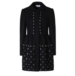 Grommets And Spheres Tech Wool Coat by Red Valentino in Arrow