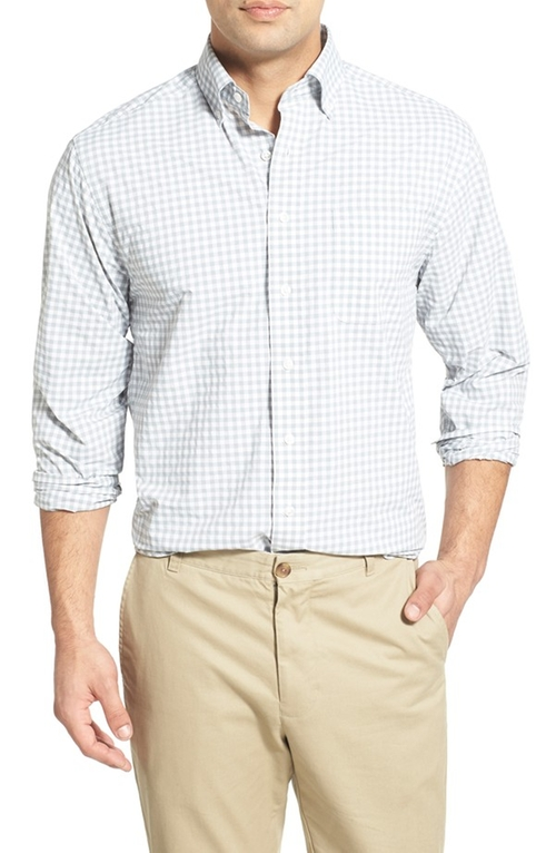 'Gorton Gingham - Murray' Long Sleeve Sport Shirt by Vineyard Vines in Blow